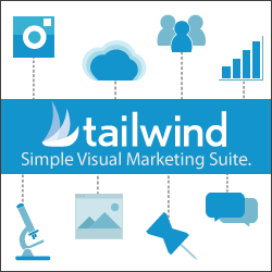 Tailwind is the scheduling tool I use for Pinterest from Walking on Sunshine Creative Services